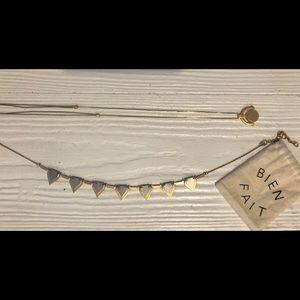 Madewell & J.Crew Necklace Bundle w/ Jewelry Bag
